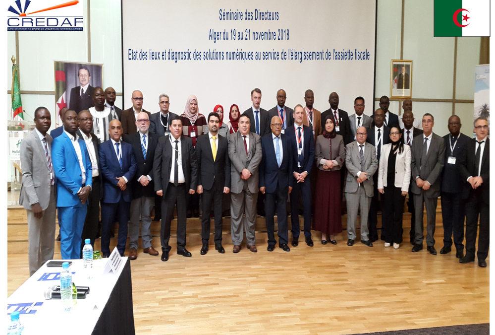 Séminaire des directeurs d'Alger, 19-21 novembre 2018