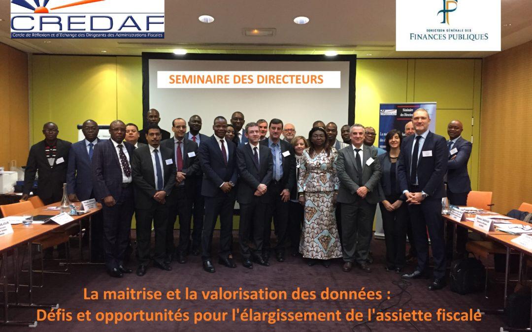 SÉMINAIRE DES DIRECTEURS DE PARIS, 18-20 novembre 2019